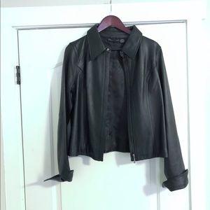 Genuine Leather Attention Jacket, SZ L